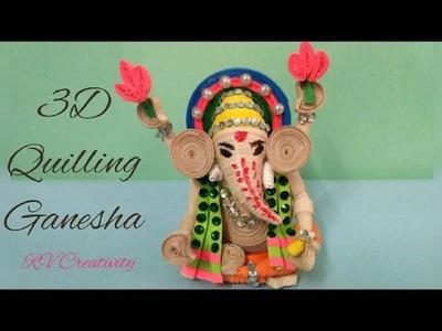 DIY 3d quilling Ganesha | handmade Ganesha | how to make Ganesha for Ganesh chaturthi