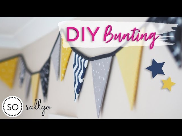 DIY BUNTING TUTORIAL   How To Make Bunting - Easy for Beginners!