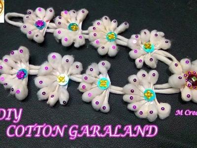 DIY cotton garland.how to make cotton garland