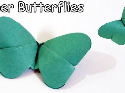 DIY Crafts: Paper Butterflies (very EASY)