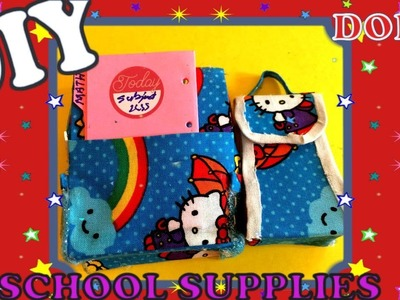DIY CUTE BARBIE DOLL SCHOOL SUPPLIES   QUICK AND EASY DOLL BACKPACK AND LUNCH BAG TUTORIAL