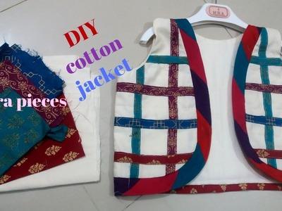 DIY designer koti. jacket.cotton fabric koti cutting and stitching  full tutorial