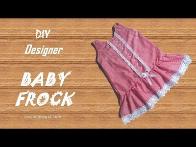 DIY Designer LACE BABY FROCK cutting and Stitching full tutorial