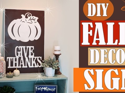 DIY DOLLAR TREE FALL DECOR SIGN