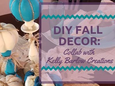DIY Dollar Tree Fall Table Decor: Collaboration with Kelly Barlow Creations