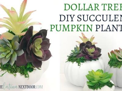 DIY Dollar Tree Succulent Pumpkins | Easy Fall Decor 2018 | Dollar Tree Fall DIY