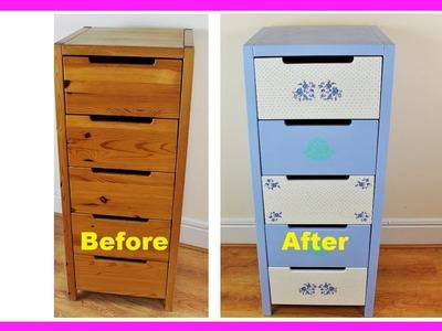 DIY Dresser Makeover - Decoupage tutorial -  Decoupage furniture - DIY - Do It Yourself