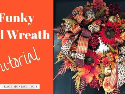 DIY Fall Wreath Tutorial - How to Make a Fall Wreath