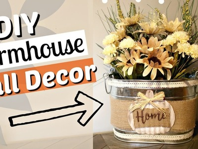 DIY Farmhouse Fall Decor | Dollar Tree Farmhouse Fall Decor | Farmhouse diy decor | KraftsbyKatelyn