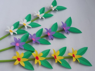 DIY: Flower Stick!!! How to Make Beautiful Paper Flower Stick for Room Decoration!!!