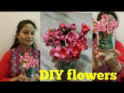 DIY flowers,घर पर फूल बनायें आसानी से,anvesha,s creativity