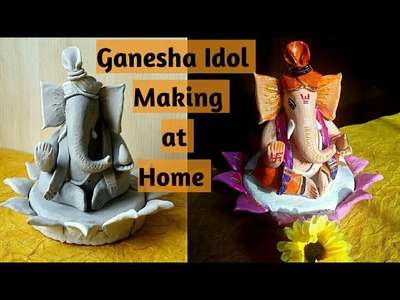DIY Ganesh idol with Clay step by step| How to make Ganpati Murti | Ganesha Idol Making #diyganesha