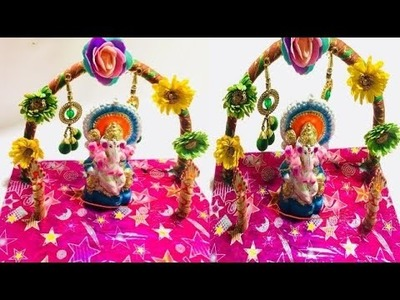 DIY | Ganesh Pandal Decorating ideas for Home | Table Decoration for Ganesh Chaturti |