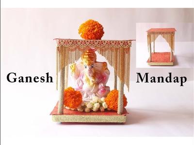 DIY Ganpati mandap Making tutorial |Ganesh  Mandir | Ganpti decoration ideas