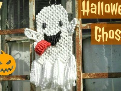 DIY Halloween Ghost for Kids - Macrame Wall Hanging Tutorial