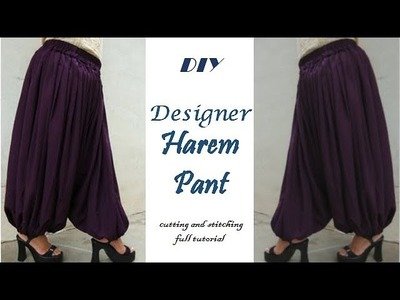 DIY.How to make Harem Pant cutting and Stitching full tutorial