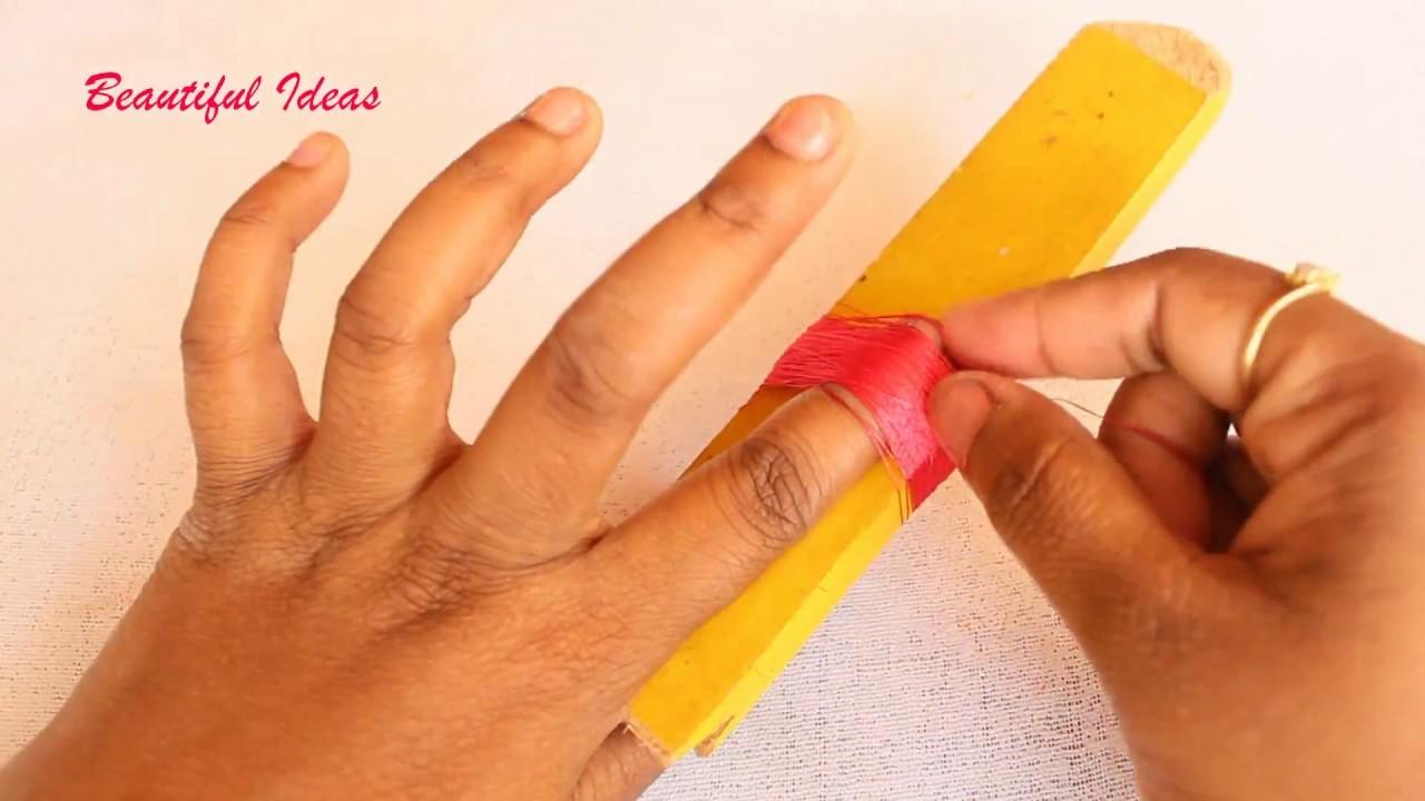 #DIY#How to Make Silk thread Tassel Designer Earrings for Beginners#Tutorials#Beautiful Ideas