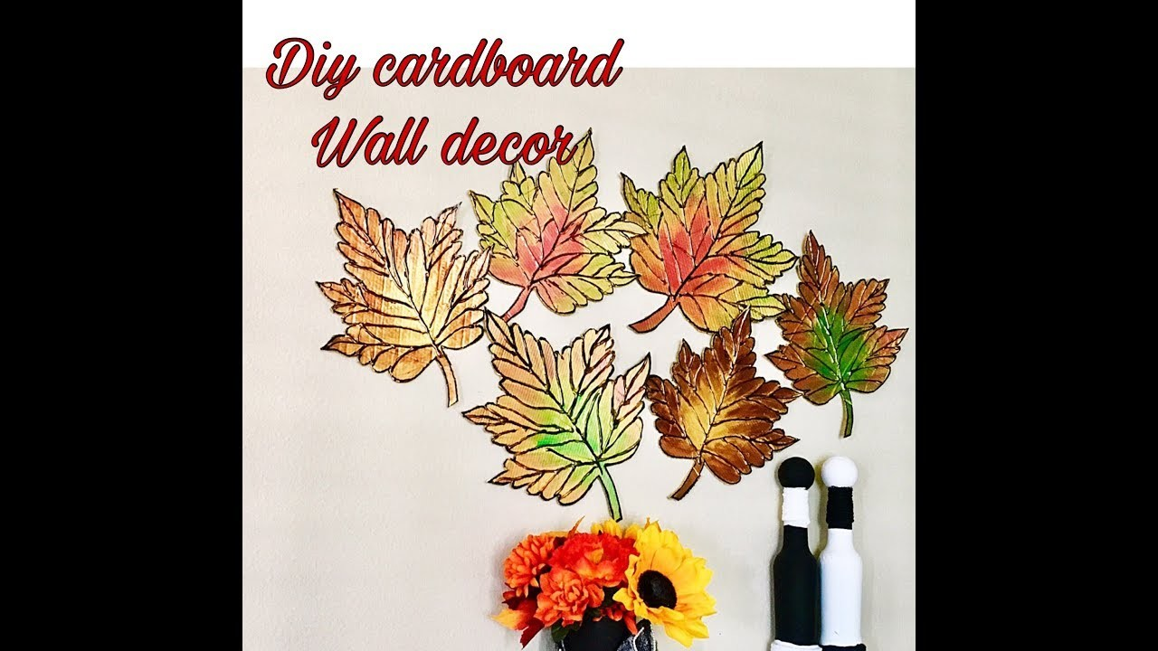 DIY large 3D leaf wall decor. Fashion pixies. Diy unique wall hanging craft ideas