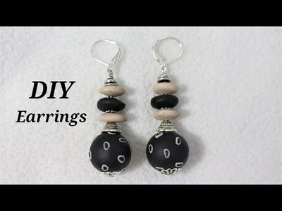 DIY Learn How To Make Polymer Clay Office Wear Earrings For Your Outfit   Jewelry Making Tutorial