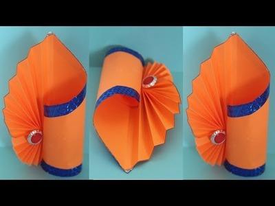 DIY - Making Paper Flower Vase_How to Make a Flower Vase At Home_Simple Paper Craft_DIY Paper Vase