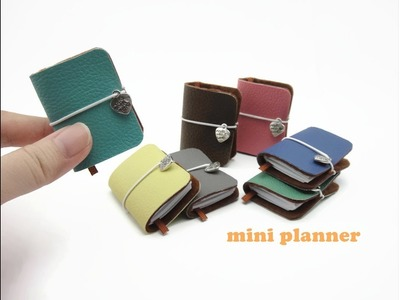 DIY Miniature Doll Mini Diary Planner Book  - Easy!