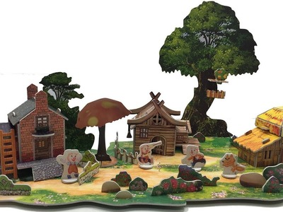 DIY My 3D Fairy Tale Puzzle, THE THREE LITTLE PIGS
