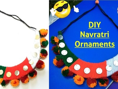 DIY Necklace for Navratri | How to make Navratri ornaments | DIY Navratri Jewellery | Navratri 2018