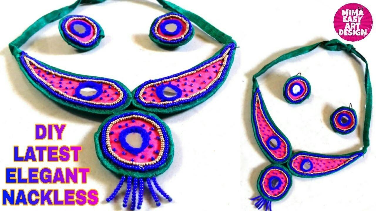 DIY Necklace How to make Navratri Jewellery.Ornaments |Navratri Garba jewellery |Girl Jewellery 2018