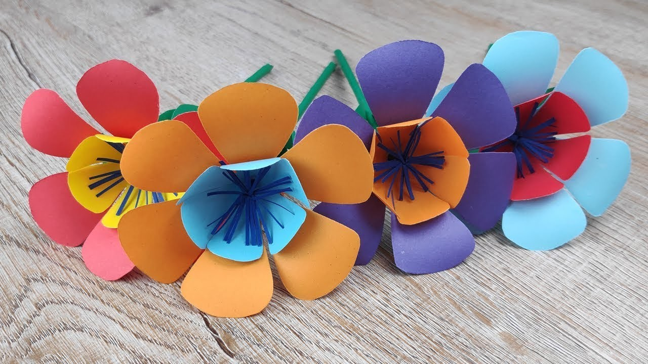 Diy diy origami paper flowers how to make beautiful colour flower diy diy origami paper flowers how to make beautiful colour flower making handmade craft izmirmasajfo