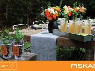 DIY Outdoor Entertaining Tutorial by Fiskars