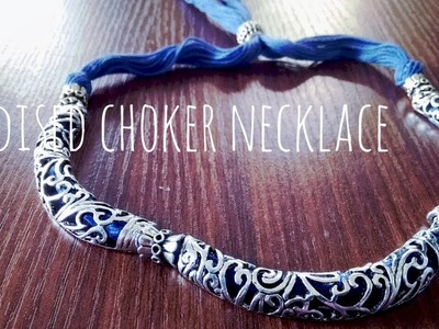 DIY  Oxidized choker necklace within 5 minutes || periwinkle TV