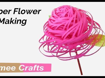 DIY paper flower making new design - paper crafts easy