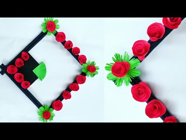 Diy paper flower wall hanging.Simple and beautiful wall hanging.Wall decoration by KovaiCraft #49