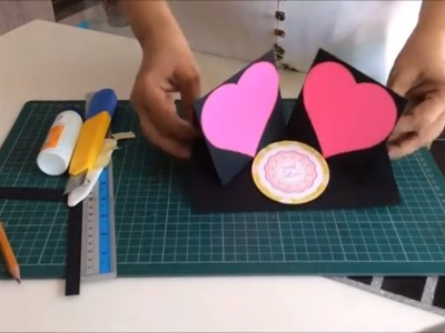 DIY-Photo frame card tutorial for scrapbook|Cutest birthday scrapbook|How to make card for scrapbook