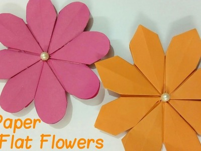 Paper diy two different styles of paper flat flowers 2018 handmade diy two different styles of paper flat flowers 2018 mightylinksfo