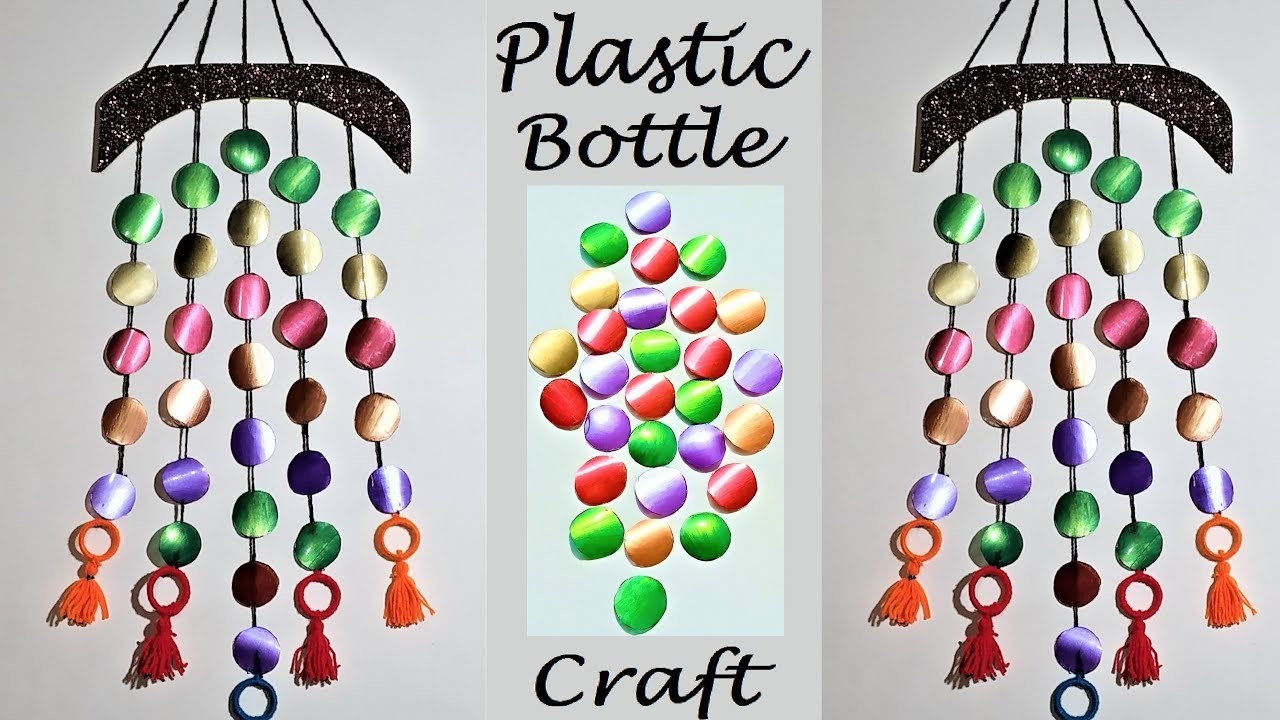DIY Wall Hanging From Waste Plastic Bottle and Wool