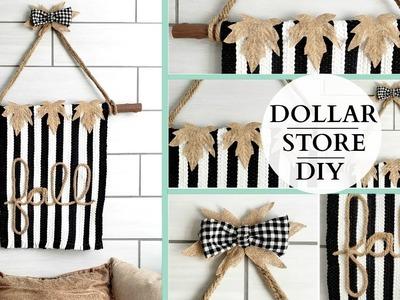 Dollar Store DIY ~ Farmhouse Wall Tapestry ~ Rustic Inspired Wall Art!
