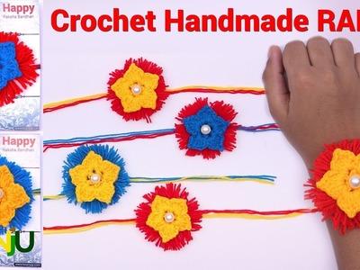 Easy and simple Crochet Rakhi in hindi | How to Make woolen rakhi at home