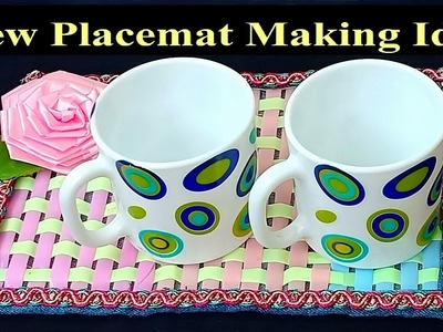 Easy and Unique Placemat Making Idea | DIY Placemat and Coaster