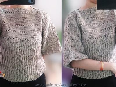Easy Crochet: Crochet Sweater #02