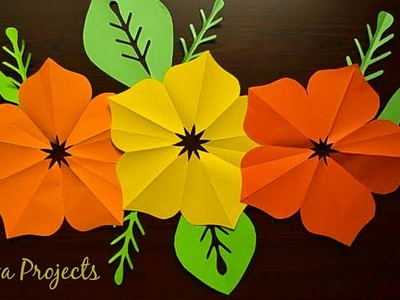 Easy Paper Flowers  #DIYPaperFlowers | Flower Making | Easy Paper Flowers | Giant Flowers DIY