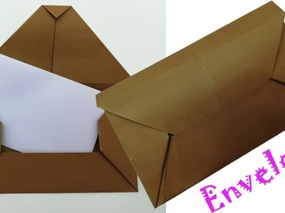 Envelope Making Easy Tutorial With Only Paper | Diy (Origami Envelope)