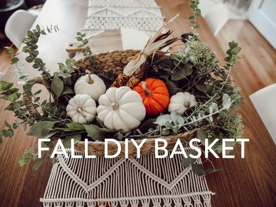 Fall Decor | DIY Fall Basket for CHEAP