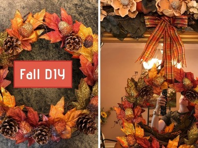 Fall Grapevine Wreath DIY With Pine Cones and Acorns 2018