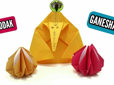 Ganesha and Modak  - Origami DIY Tutorial -923
