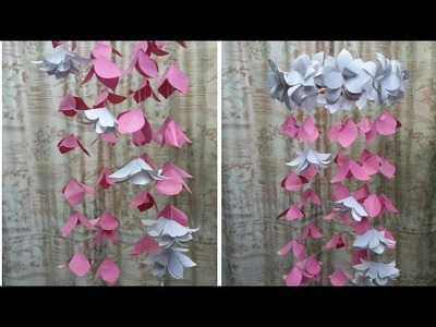 Home decoration ideas.Diy.Celling hanging out  of paper .Paper craft idea.