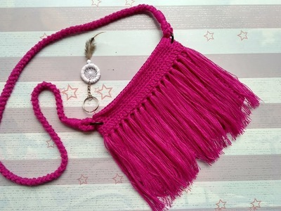 How to Crochet a Sling Bag with Fringes