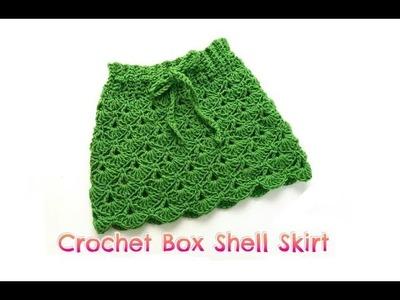 How to Crochet Box Shell Skirt (6-12 months)