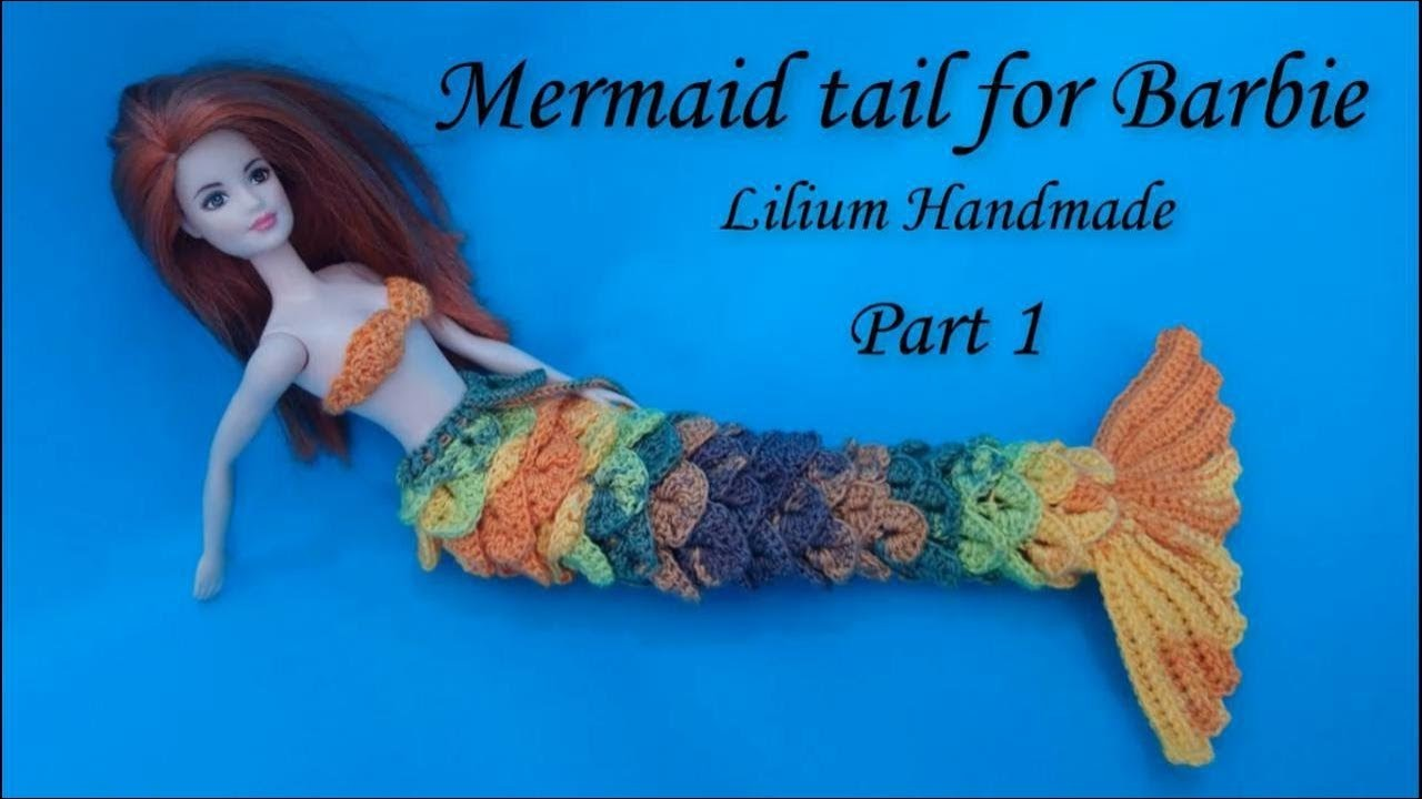 How To Crochet Mermaid Tail With Crocodile Shell Left For Barbie
