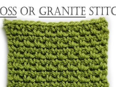 How to Crochet Moss Stitch
